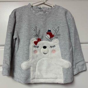 Gray polar bear sweatshirt, sz 4T